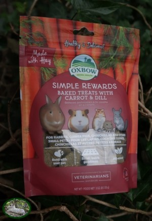 Oxbow Simple Rewards Baked Treats with Carrot & Dill (85gr)